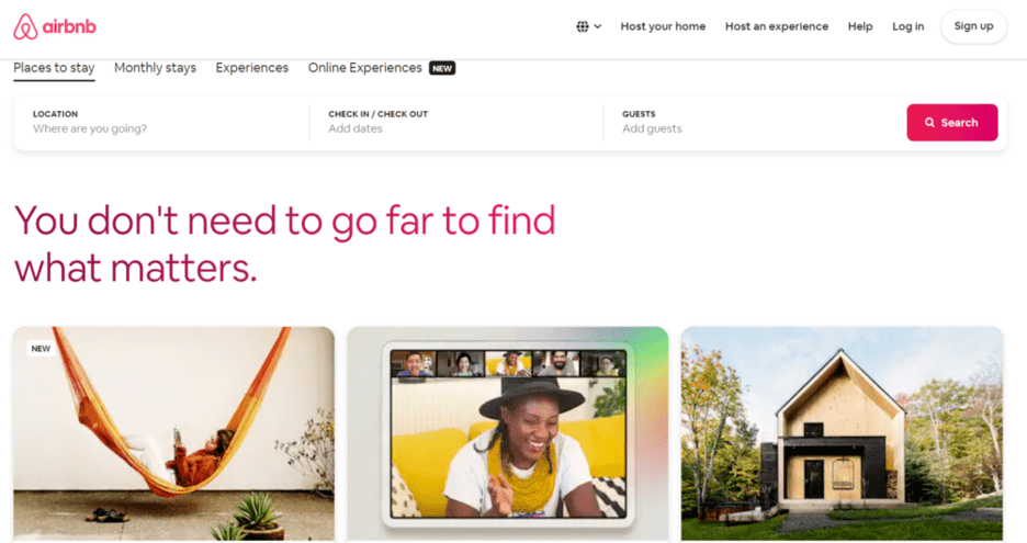 Airbnb - online travel marketplace examples