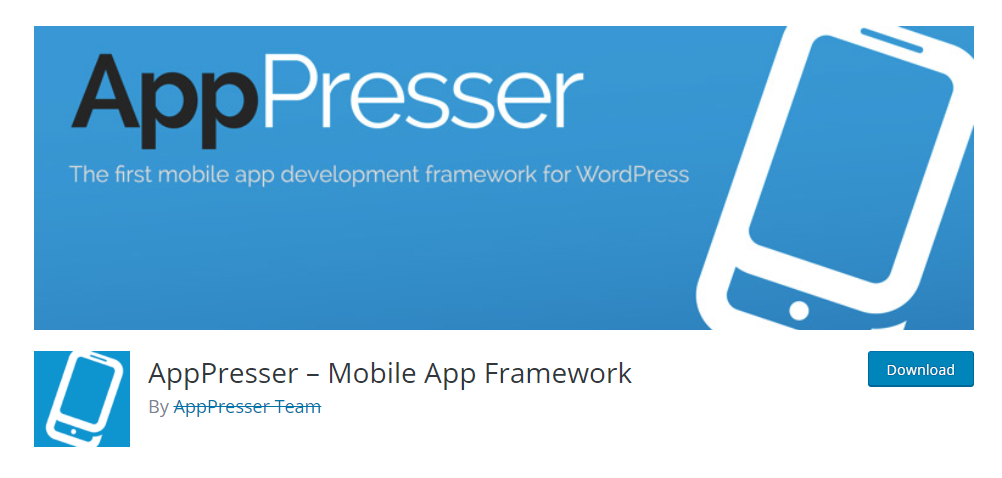 plugin that will help you convert a WordPress site into a mobile app