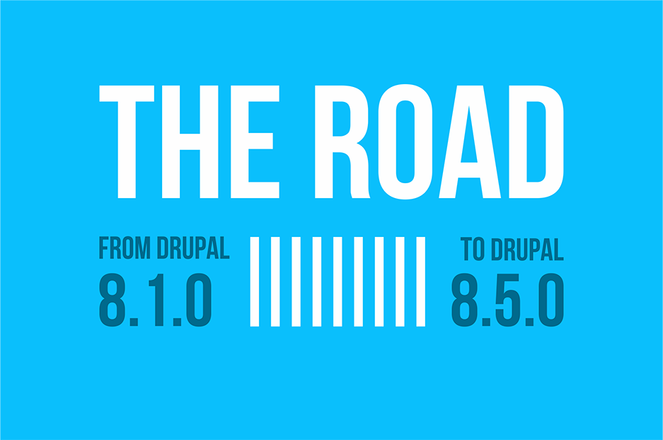 From Drupal 8.1.0 to Drupal 8.5.0: great features | Infographic