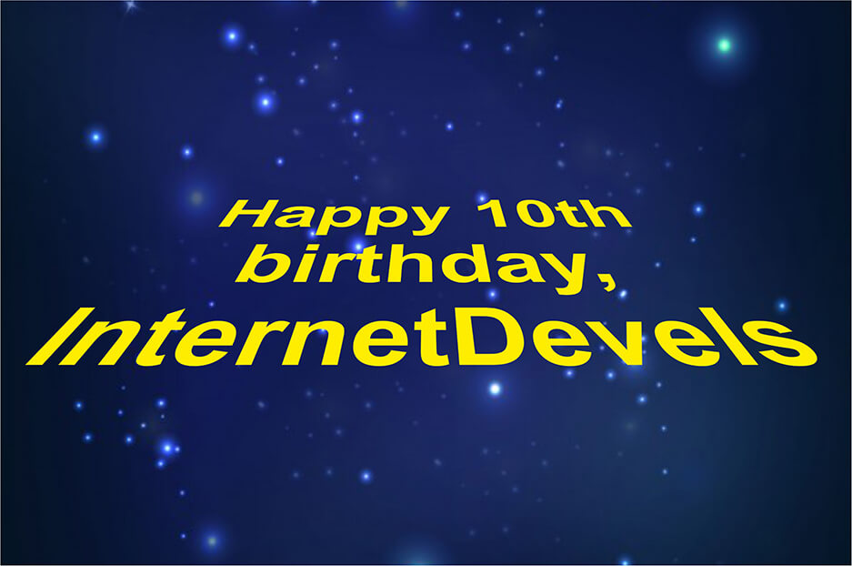 Happy birthday, Internetdevels