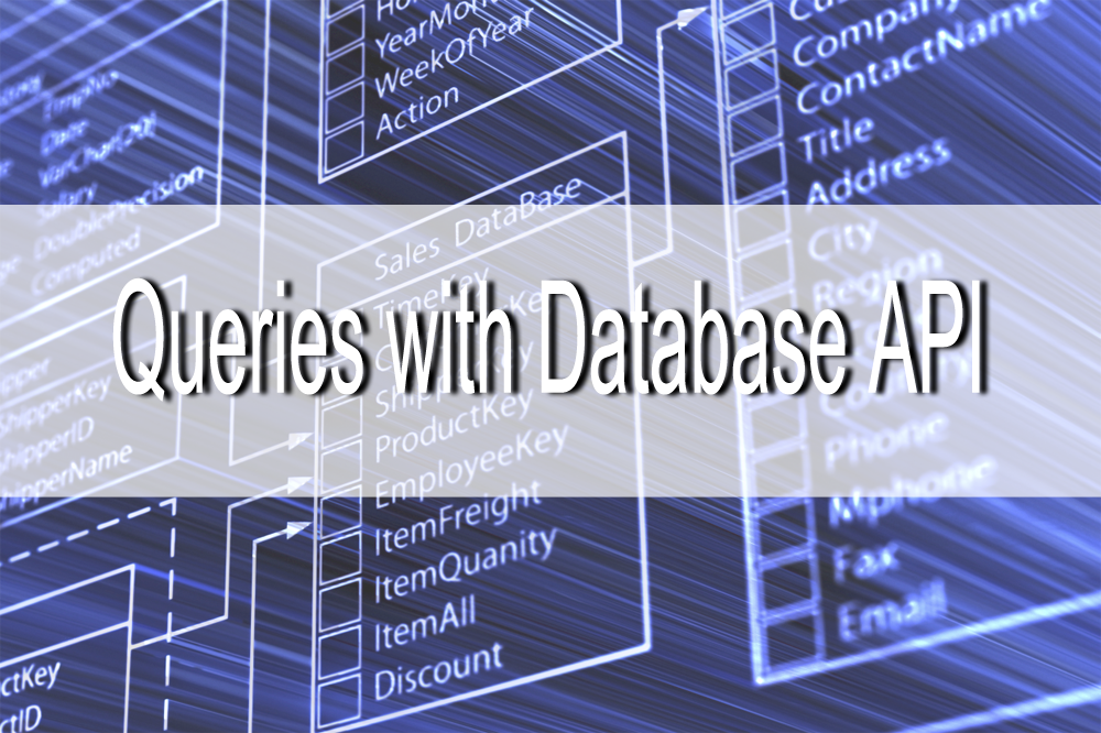 Building queries using Database API