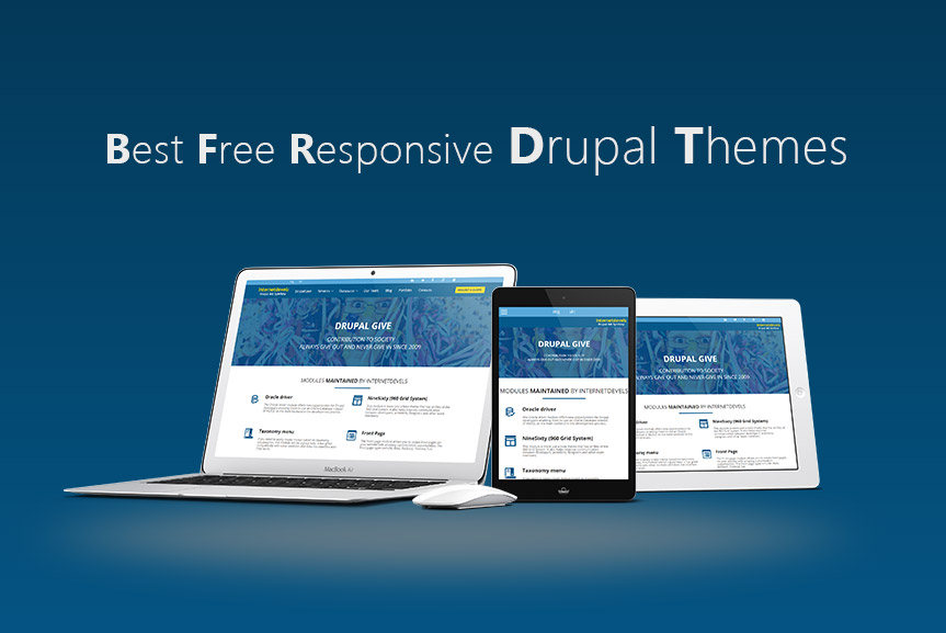 Best Free Responsive Drupal Themes 2015