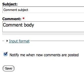 Comment Notify Drupal module