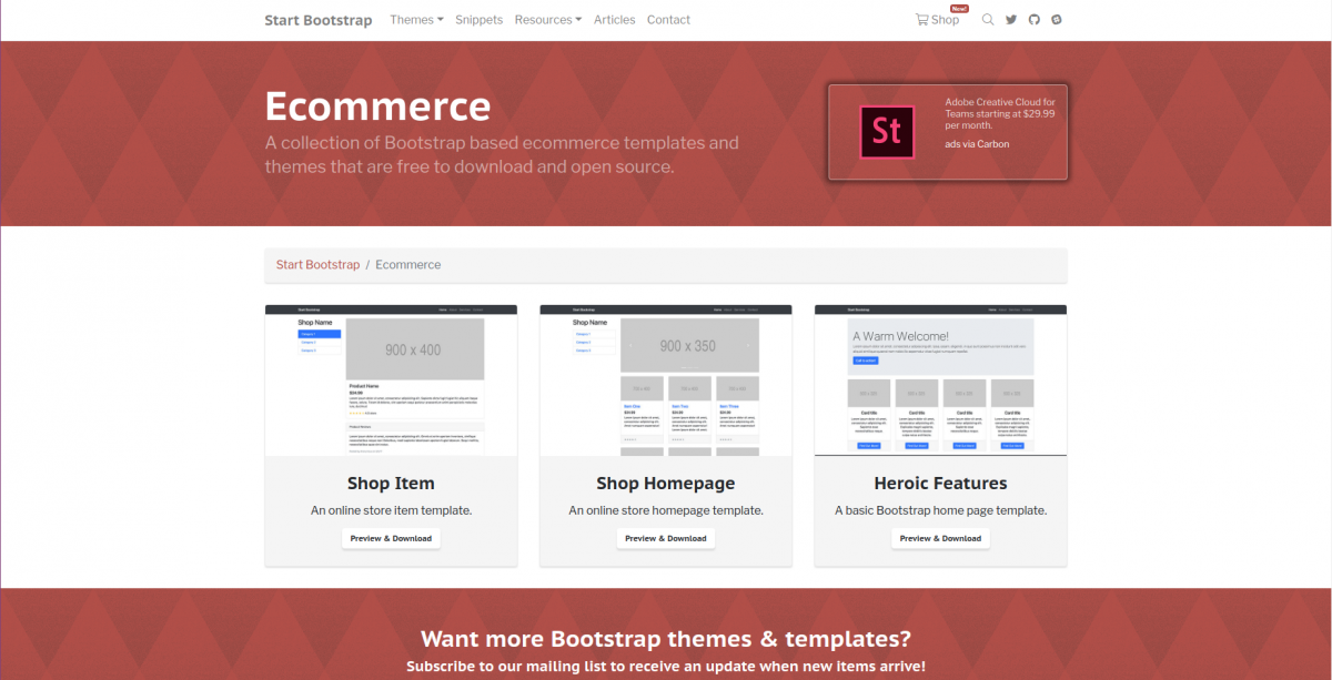 Commerce Bootstrap Base Theme