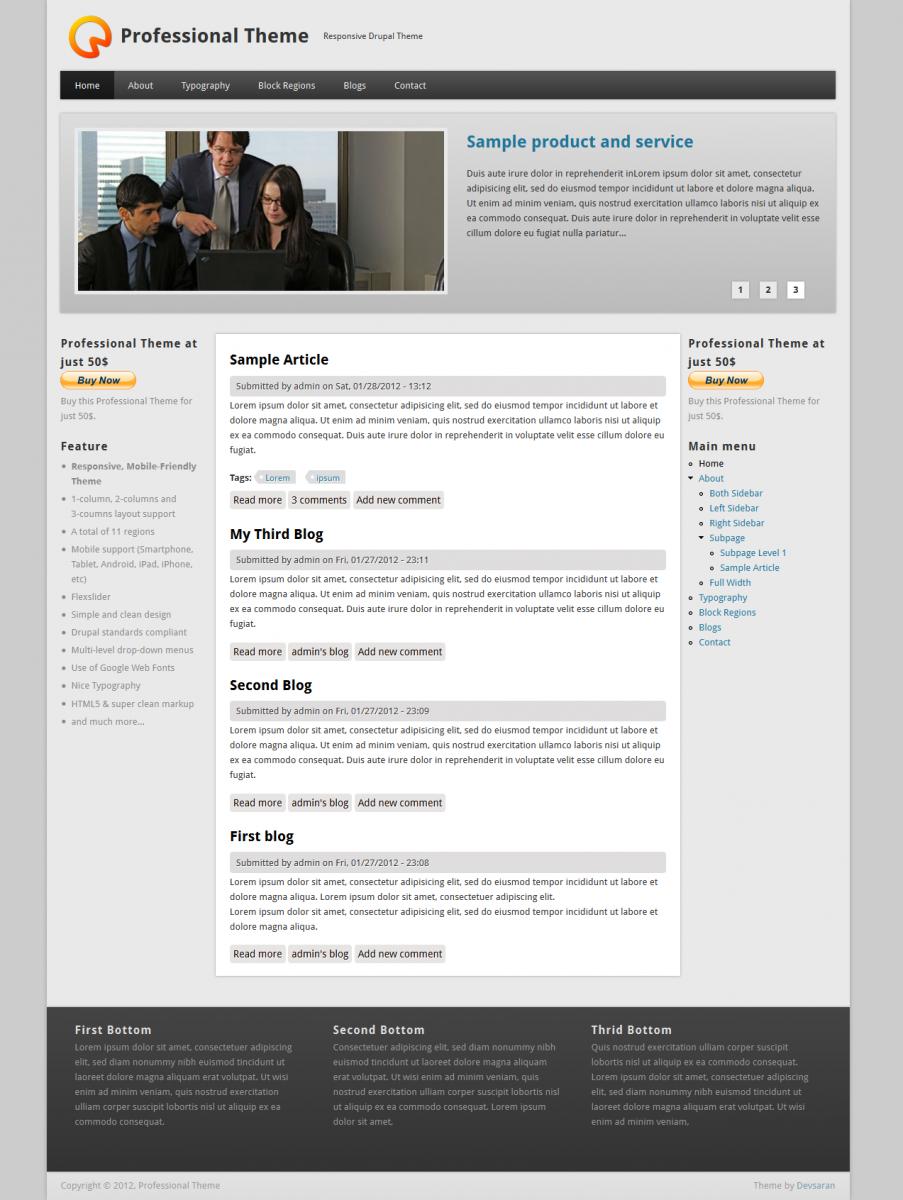 Best Free Drupal 7 Themes — Internetdevels official blog
