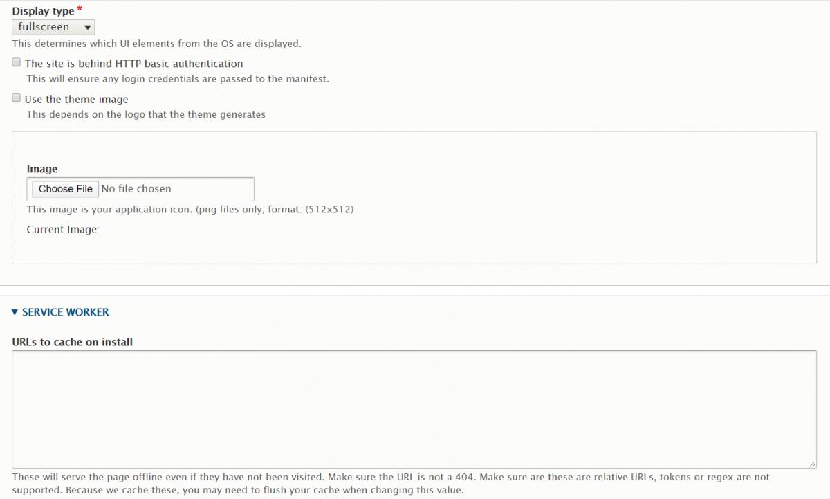 Progressive Web App module in Drupal