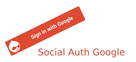 Social Auth Google Drupal module