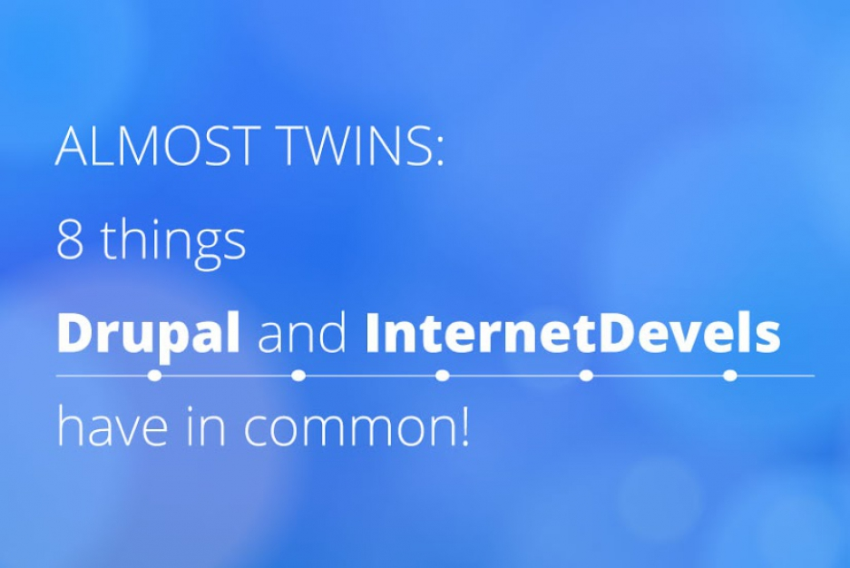 Almost twins: 8 things Drupal and InternetDevels have in common!