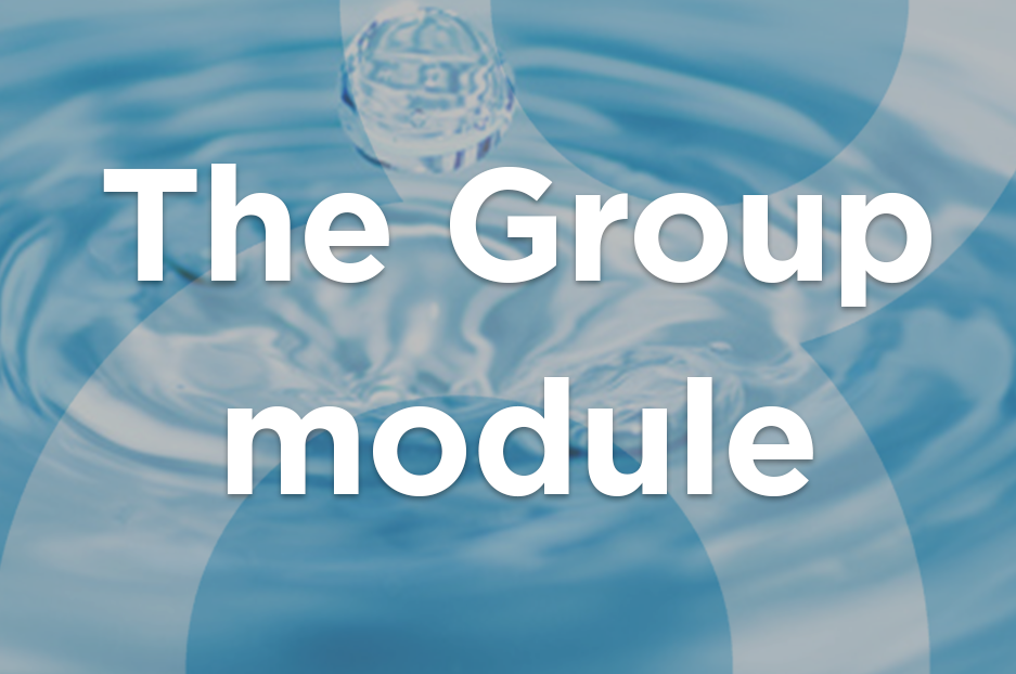 The Group module to manage your site access and permissions
