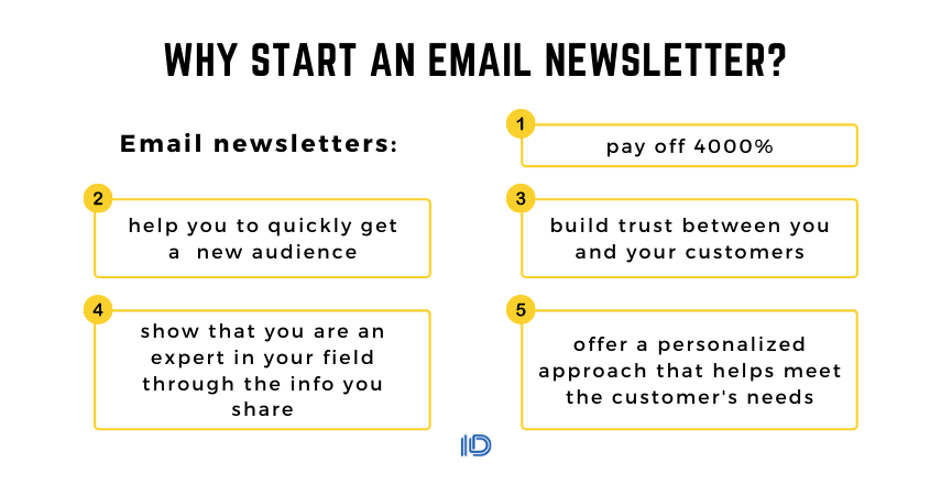 Why start an email newsletter?